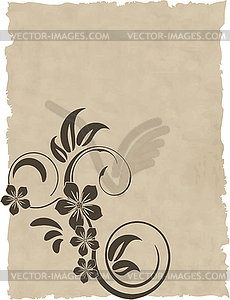 Das alte Papier Grunge-Hintergrund - Vector-Abbildung