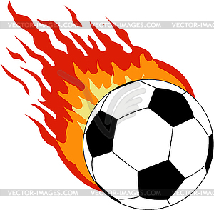 Fußball mit dem Feuer - Vektor-Design