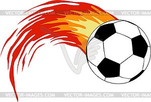 Fußball mit dem Feuer - vektorisiertes Clip-Art