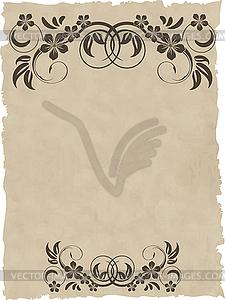 Alter Grunge-Papier-Hintergrund - vektorisierte Abbildung