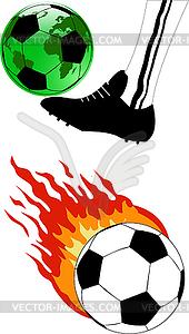 Fußball mit dem Feuer - Vektorgrafik-Design