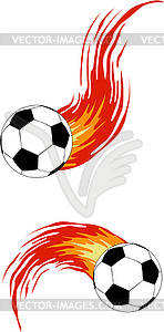 Fußball mit dem Feuer - vektorisiertes Design