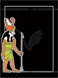 Der ägyptische Gott - Vector-Clipart EPS