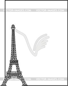 Eiffelturm - Stock Vektor-Clipart