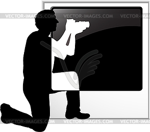 Der Fotograf `s Silhouette - Stock Vektorgrafik