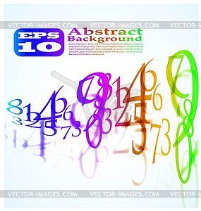 Abstrakter Farbhintergrund von Zahlen - Clipart-Bild