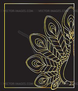 Pfau - Vektorgrafik-Design