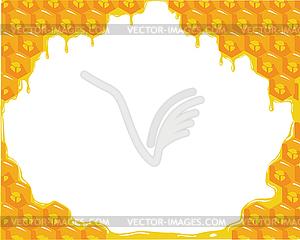 Orange Hintergrund über Waben - Vector-Clipart EPS