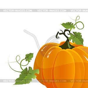 Kürbis zum Halloween - Vektor-Bild