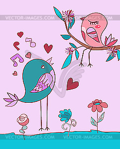 Liebes-Vogel-Lied - Vector-Bild