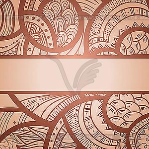Abstrakter ornamentaler Hintergrund - Vector-Clipart EPS