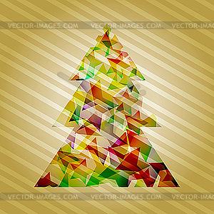 Tannenbaum von Sternen - vektorisiertes Bild