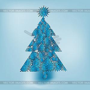 Weihnachtsbaum aus Schneeflocken - Vector-Bild