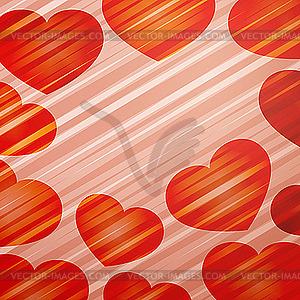 Hintergrund mit hellen Herzen - Vektor-Clipart EPS