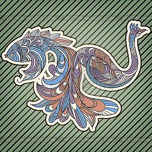 Fisch und Vogel - vektorisiertes Clip-Art