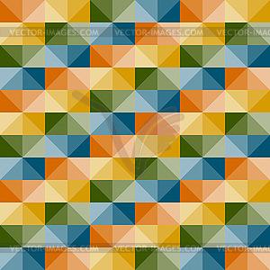 Nahtlose geometrische Muster mit 3D-Illusion - Vector-Design