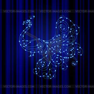 Glänzend Pfau, Energiekonzept - Vector-Clipart / Vektor-Bild