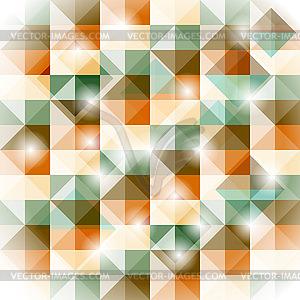 Nahtlose geometrische Muster mit 3D-Illusion - Clipart-Bild