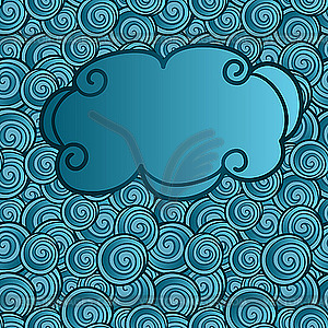 Cloud on abstract seamless background with swirls - royalty-free vector image