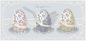 Osterkarte mit Eiern - Vector-Bild