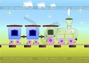 Kinder-Zug - Vector-Clipart
