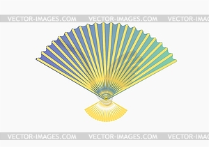 Der Ventilator erzeugt einen kühlen - Stock Vektor-Bild