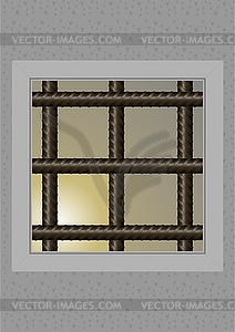 Das Gefängnis Fenster - vektorisierte Grafik