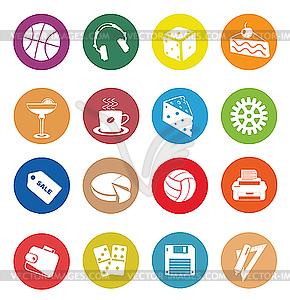 Web Icons - farbige Vektorgrafik