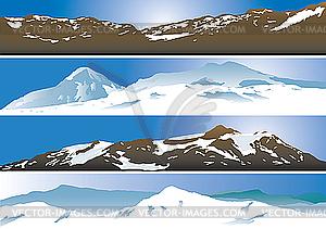 Gebirge - Vector Clip Art