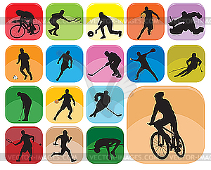 Sport-Icons - Royalty-Free Clipart