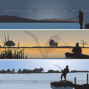 Angeln - farbige Vektorgrafik