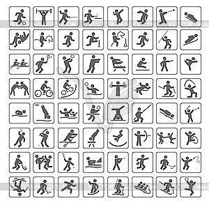 Иконки видов спорта векторный
