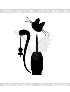 Katze und Maus - Vektor-Abbildung