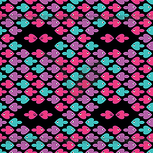 Buntes Muster mit Fischen - Vector-Design