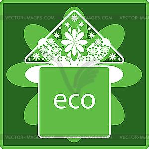 Ökologie Icon - Vektor-Clipart / Vektor-Bild