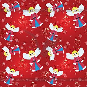 Nahtlose Muster Weihnachtsfee - Vector-Design
