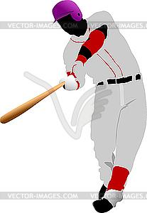 Baseball-Spieler - vektorisiertes Clip-Art
