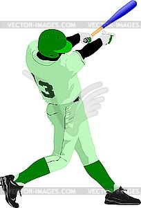 Baseball-Spieler - vektorisiertes Design