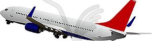 Flugzeug im Flug - Vector Clip Art