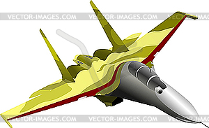 Kampfflugzeug - Stock Vektor-Clipart