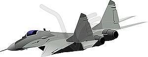 Kampfflugzeug - vektorisiertes Clip-Art