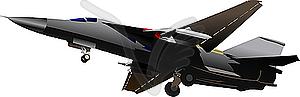 Kampfflugzeug - Clipart