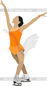 Damen-Eiskunstlauf - Vector-Clipart