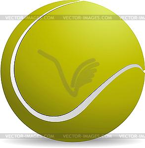 Gelb-grüner Tennisball - Vector-Illustration