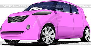 Rosa Auto - Vector-Clipart / Vektor-Bild