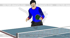 Tischtennis-Spieler - Vektor-Clipart / Vektor-Bild