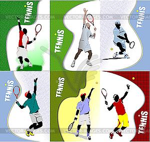 Poster mit Tennisspieler - Vektorgrafik