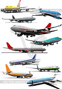 Flugzeuge - Vector-Clipart EPS