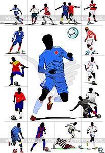 Fußballspieler - Vektor-Abbildung
