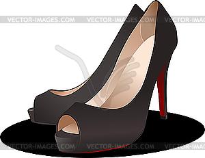 Modische Frauen-Schuhe - Vector-Clipart